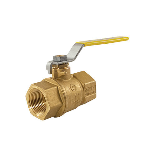 Jomar Valve 100-704 3/4-Inch, 2-piece, Full-port, Threaded Connections, 600 WOG Brass Ball Valve