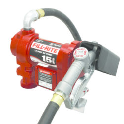 Fill-Rite Model FR1210G 12 Volt DC Pump with Hose and Manual Nozzle
