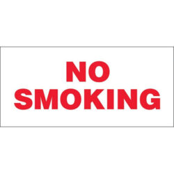 "Performance Ink MD-8 13-Inch x 6-Inch ""NO SMOKING"" Decal"