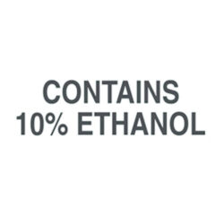 Contains 10% Ethanol Decal 6 inch width x 2 inch height