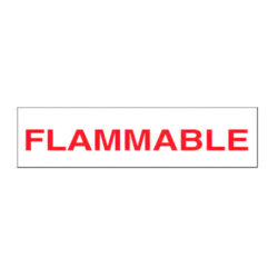 Flammable Decal with Red letters on White background 12 inch x 3 inch