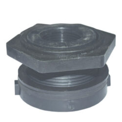 One Inch Double Threaded Polypropylene Bulkhead Fitting