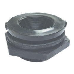 Two Inch Double Threaded Polypropylene Bulkhead Fitting